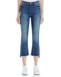 Mother - Insider Crop Step Fray Jeans In Not Rough Enough - Lyst