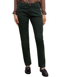 Gerard Darel Ezra Straight Leg Jeans In Green