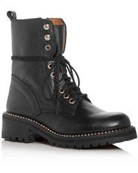 Aqua Women's Jax Combat Boots - Black