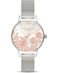 Olivia Burton Lace Detail Watch - Metallic