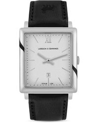 Larsson & Jennings Ljxii Norse Leather Strap Watch - Black