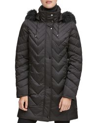 Marc New York Roxbury Matte Satin Puffer Coat - Black