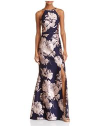 Betsy & Adam - Floral Brocade Gown - Lyst