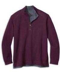 Tommy Bahama Alpine View Half Zip Reversible Sweatshirt - Multicolour