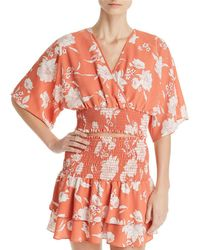 Sage the Label - Senora Printed Crossover Cropped Top - Lyst