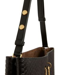 AllSaints Beaumont Small Leather Hobo - Black