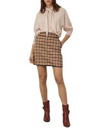 Marella Riad Patterned Skirt - Natural
