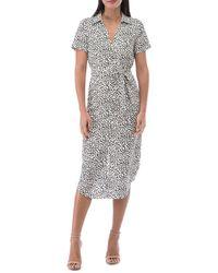 B Collection By Bobeau Larson Speckle Print Shirt Dress - Multicolour