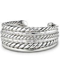 David Yurman - Pure Form Cuff Bracelet With Diamonds - Lyst