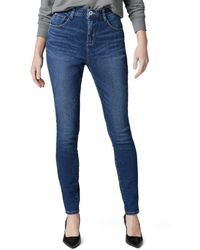 Jag Jeans High Rise Cecilia Skinny Jeans In Tribeca Blue