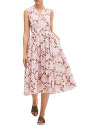 Kate Spade Bloom Burnout Midi Dress - Pink