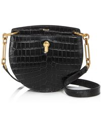 Bally - Cecyle Small Croc - Embossed Leather Crossbody - Lyst
