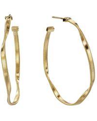 Marco Bicego - 18k Yellow Gold Marrakech Twisted Medium Hoop Earrings - Lyst