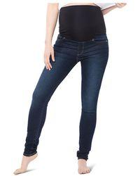 Nom Maternity Soho Over - The - Belly Skinny Jeans In Dark Blue