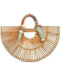 Cult Gaia Fan Ark Medium Bamboo Bag - Brown