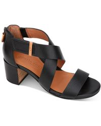 Gentle Souls by Kenneth Cole Charlene Strappy Sandals - Black