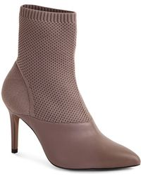Reiss Knitted Ankle Boots - Grey