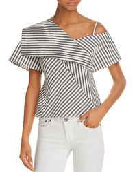 Theory - Asymmetric Cold-shoulder Top - Lyst