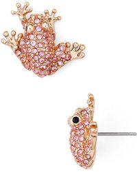 Kate Spade - Frog Stud Earrings - Lyst