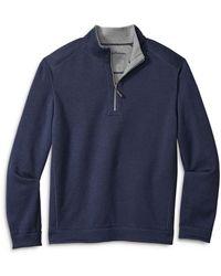 Tommy Bahama Flipshore Reversible Half - Zip Knit Pullover - Blue
