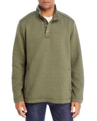 Tommy Bahama Quilted Mock Neck Sweatshirt - Green