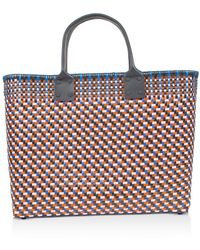 Truss Large Woven Tote - Blue