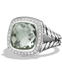 David Yurman | Albion Ring With Prasiolite And Diamonds | Lyst