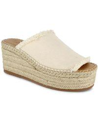 Splendid Leia Slip On Espadrille Wedge Sandals - Natural