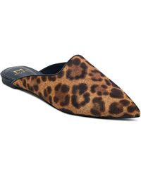 Marc Fisher - Sheenly Leopard Print Calf Hair Mules - Lyst