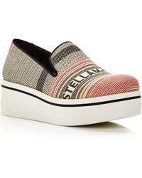 2d03c96e1ec Stella McCartney - Women s Binx Canvas Slip-on Platform Sneakers - Lyst