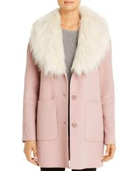 Laundry by Shelli Segal Single-breasted Coat - Pink