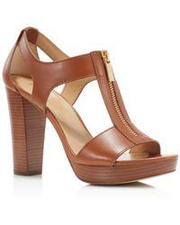 MICHAEL Michael Kors - Berkley Zipper Platform High-heel Sandals - Lyst