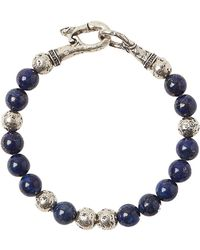John Varvatos - Artisanal Silver & Sodalite Beaded Bracelet - Lyst