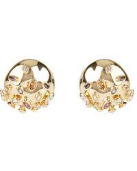 Alexis Bittar Sputnik Button Clip - On Earrings - Brown