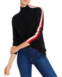 C By Bloomingdale's Ski Striped Cashmere Sweater - Black