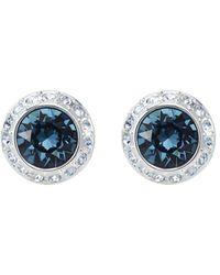 Swarovski Angelic Crystal Stud Earrings - Blue