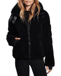 Sam. Denver Faux Shearling Coat - Black