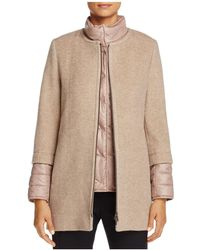 Cinzia Rocca - Mixed Media Coat - Lyst