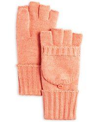 C By Bloomingdale's Aqua Pop - Top Gloves - Orange