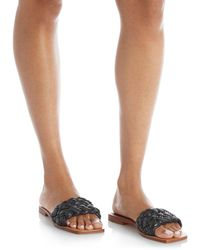 Marc Fisher Reanna Woven Slide Sandals - Yellow