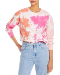 Aqua Tie Dye Sweatshirt - Pink