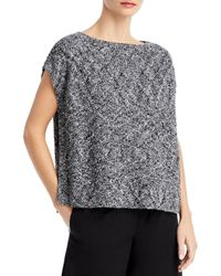 Eileen Fisher Boat Neck Sweater - Black