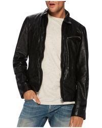 Scotch & Soda | Lightweight Washed Leather Jacket | Lyst