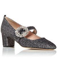 SJP by Sarah Jessica Parker Cosette Glitter Mary Jane Court Shoes - Metallic