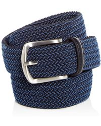 Bloomingdale's The Men's's Store At Bloomingdale's Men's Woven Stretch Belt - Blue