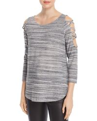 Status By Chenault - Space-dyed Strappy Cutout Top - Lyst
