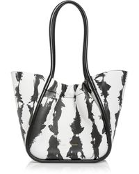 Proenza Schouler - Large Tie Dye Stripe Ruched Leather Tote - Lyst