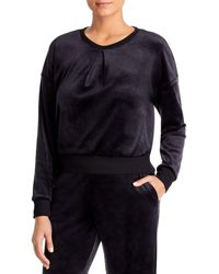 Three Dots Velour Sweatshirt - Black