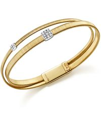 Marco Bicego - 18k Yellow Gold Masai Two Strand Crossover Diamond Bracelet - Lyst