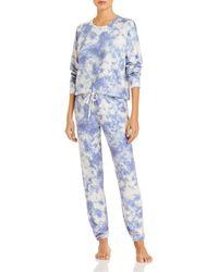 Aqua Print Pajama - Blue